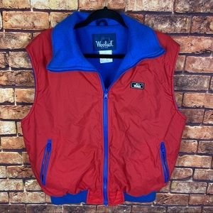 Vintage woolrich fleece lined zip up vest jacket